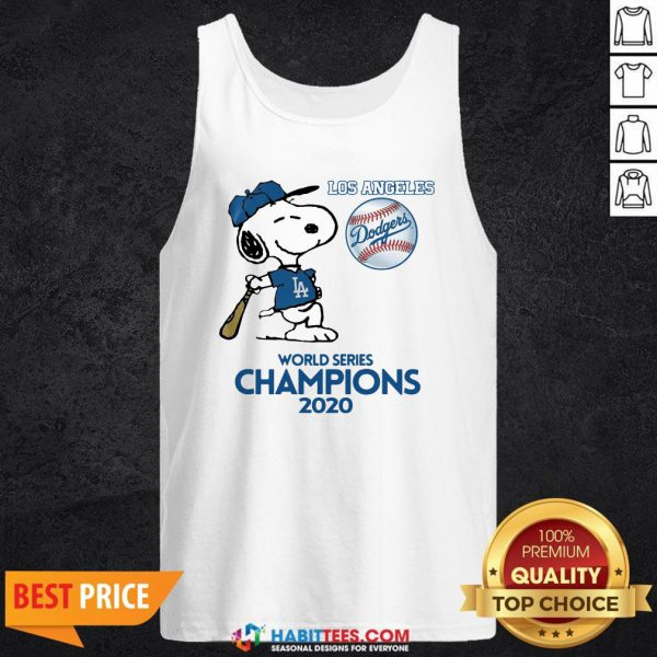 Pro Snoopy Play Baseball Los Angeles Dodgers World Series Champions 2020 Tank Top - Design By Habittees.com