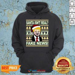 Santa isn't real? Fake news! Funny Trump Christmas Gift Hoodie - Design By Habittees.com
