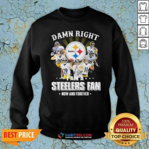 So Damn Right I Am A Pittsburgh Steelers Fan Now And Forever Signature Sweatshirt