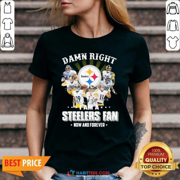 So Damn Right I Am A Pittsburgh Steelers Fan Now And Forever Signature V-neck