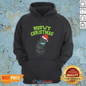 So Meowy Catmas Santa Black Cat Mask Christmas Quarantine Gift Hoodie - Design By Habittees.com