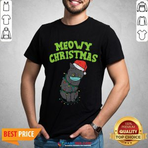 So Meowy Catmas Santa Black Cat Mask Christmas Quarantine Gift Shirt - Design By Habittees.com