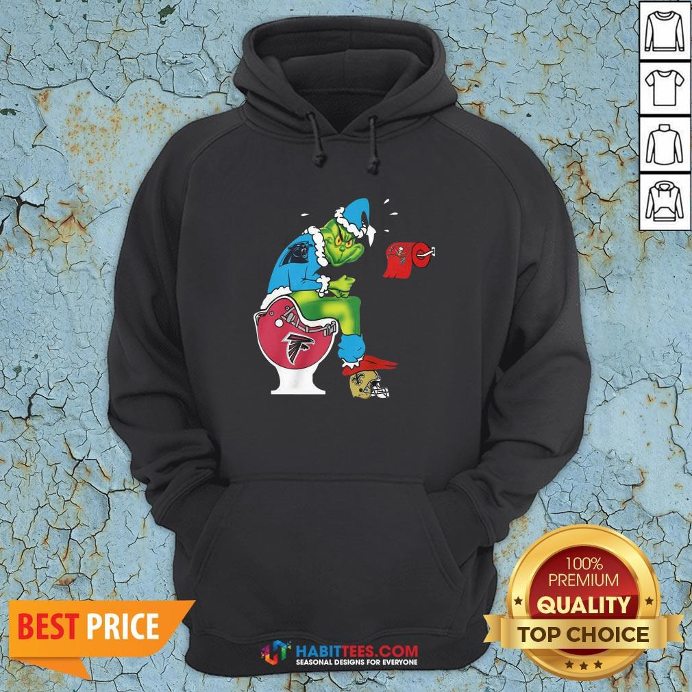 So The Grinch Carolina Panthers Shit On Toilet Atlanta Falcons And Other Teams Christmas Hoodie - Design By Habittees.com