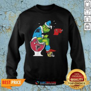 So The Grinch Carolina Panthers Shit On Toilet Atlanta Falcons And Other Teams Christmas Sweatshirt - Design By Habittees.com