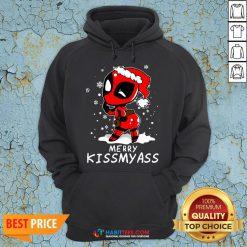 Super Deadpool Merry Kiss My ass Christmas Hoodie - Design By Habittees.com