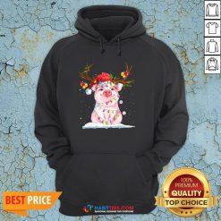 Super Pig Reindeer Light Christmas Hoodie - Design By Habittees.com