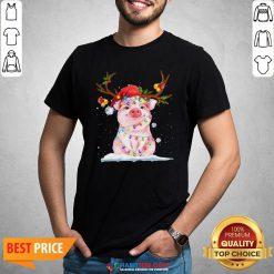 Super Pig Reindeer Light Christmas Shirt - Design By Habittees.com
