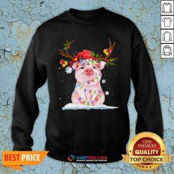 Super Pig Reindeer Light Christmas Sweatshirt - Design By Habittees.com