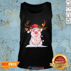 Super Pig Reindeer Light Christmas Tank Top - Design By Habittees.com