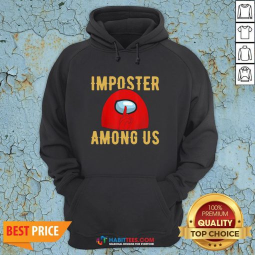 Super Red Imposter Among Us Hoodie - Design By Habittees.com