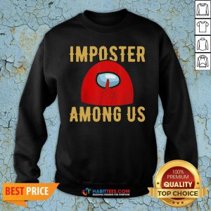 Super Red Imposter Among Us Sweatshirt - Design By Habittees.com