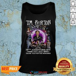 Super Tim Burton 50th Anniversary 1971 2021 Thank You For The Memories Signatures Tank Top - Design By Habittees.com