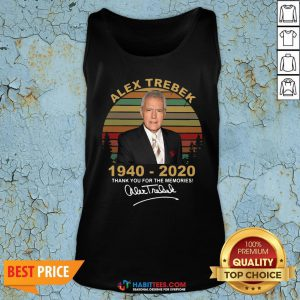 Sweet Alex Trebek 1940 2020 Thank You For The Memories Vintage Tank Top - Design By Habittees.com