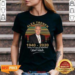Sweet Alex Trebek 1940 2020 Thank You For The Memories Vintage V-neck - Design By Habittees.com