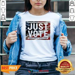 Sweet Just vote for our country for our future V-neck - Design By Habittees.com