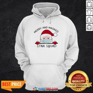 Sweet Santa Face Mask Merry And Masked Santa Squad Christmas Hoodie - Design By Habittees.com