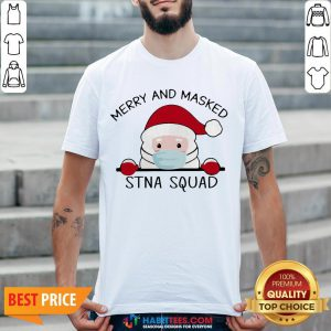 Sweet Santa Face Mask Merry And Masked Santa Squad Christmas Shirt - Design By Habittees.com
