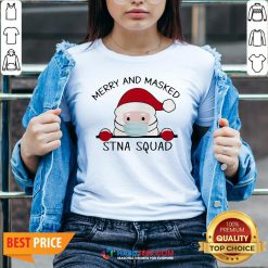 Sweet Santa Face Mask Merry And Masked Santa Squad Christmas V-neck - Design By Habittees.com