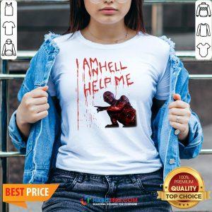 Top Hellraiser I Am Hell Help Me V-neck