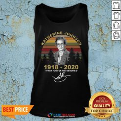 Top Katherine Johnson 1918 2020 Thank You For The Memories Vintage Tank Top - Design By Habittees.com