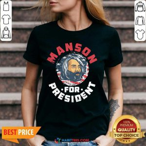 Top Manson For President V-neck