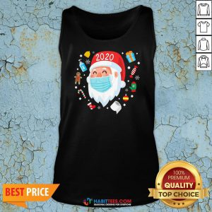 Top Santa Face Mask Funny Christmas Pajama For Tank Top