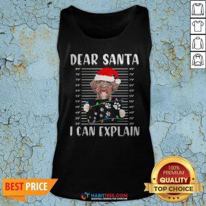 Top Shetland Sheepdog Dear Santa I Can Explain Christmas Sweater Tank Top - Design By Habittees.com