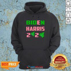 Vip Biden Harris AKA 2020 Election Sorority Green and Pink Hoodie - Design By Habittees.com