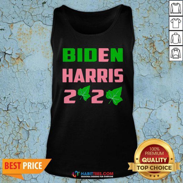 Vip Biden Harris AKA 2020 Election Sorority Green and Pink Tank Top - Design By Habittees.com