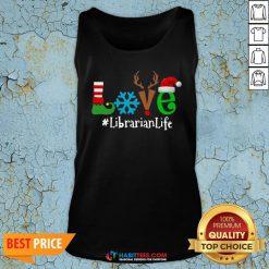 Vip Love Snow Elf Reindeer Librarian life Christmas Tank Top - Design By Habittees.com
