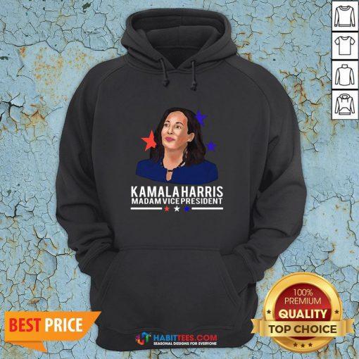 Vip Madam Vice President Kamala Harris Short-Sleeve Unisex Hoodie - Design By Habittees.com
