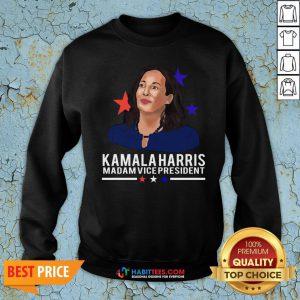 Vip Madam Vice President Kamala Harris Short-Sleeve Unisex Sweatshirt - Design By Habittees.com