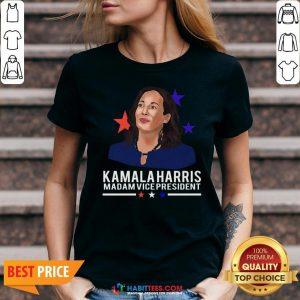 Vip Madam Vice President Kamala Harris Short-Sleeve Unisex V-neck - Design By Habittees.com