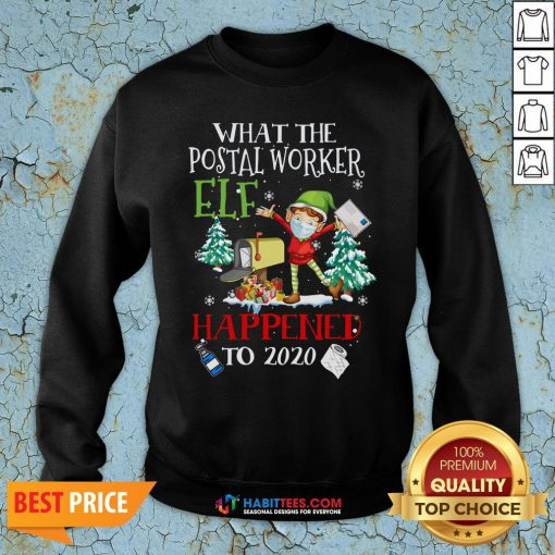 Vip What The Postal Worker Elf Happened To 2020 Toilet Paper Christmas Sweatshirt - Design By Habittees.com