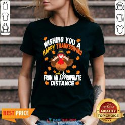 Wishing You A Happy Thanksgiving From An Appropriate Distance Turkey V-neck