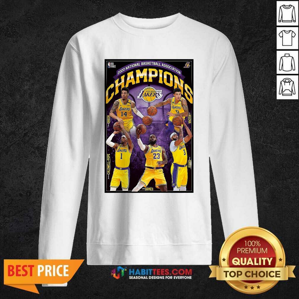 2020 National Basketball Association Champions Los Angeles Lakers Sweatshirt - Design by Habittees.com