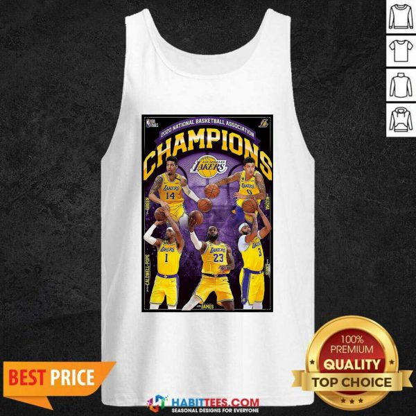 2020 National Basketball Association Champions Los Angeles Lakers Tank Top - Design by Habittees.com