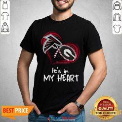 Atlanta Falcons And Georgia Bulldogs Football Heart Valentines Day Shirt - Design by Habittees.com