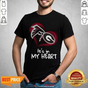 Atlanta Falcons And Georgia Bulldogs Football Heart Valentines Day Shirt - Design by Habittees.com