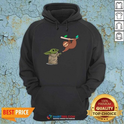 Awesome Baby Yoda And Sloth Hoodie - Design by Habittees.com