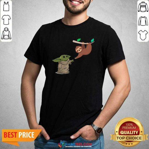 Awesome Baby Yoda And Sloth Shirt - Design by Habittees.com