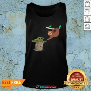 Awesome Baby Yoda And Sloth Tank Top - Design by Habittees.com