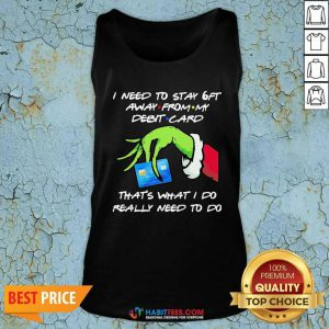 Awesome Grinch Hand Holding I Need To Stay 6ft Away From Tank Top - Design by Habittees.com