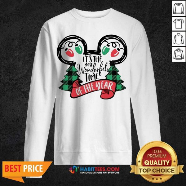 Awesome It Is The Most Wonderful Time Of The Year Christmas Sweatshirt - Design by Habittees.com