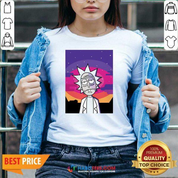 Awesome Rick Sanchez Vintage V-neck - Design by Habittees.com