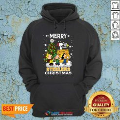 Awesome The Peanuts Snoopy And Friend Merry Steelers Ugly Christmas Hoodie- Design by Habittees.com