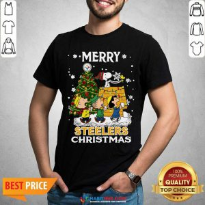 Awesome The Peanuts Snoopy And Friend Merry Steelers Ugly Christmas Shirt- Design by Habittees.com