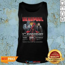 Deadpool 5th Anniversary 2016 2021 2 Film 243 Minutes Thank Memories Signatures Tank Top - Design by Habittees.com