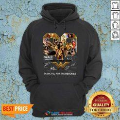 Funny 80 Years Of Wonder Woman 1941 2021 Thank Memories Signatures Hoodie - Design by Habittees.com