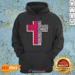 Funny I Can Do All Things Through Christ Buffalo Bills Hoodie - Design by Habittees.com